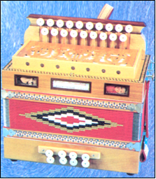 A diatonic accordion